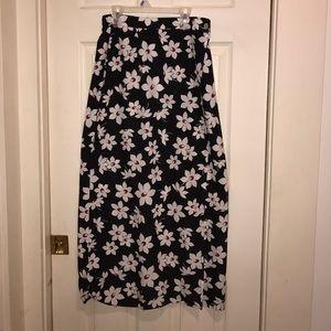 Vintage daisy maxi skirt