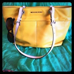 KORS Michael Kors Handbags - BLOWOUT SALE!!! Unique yellow MK tote