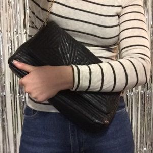 bp Handbags - FINAL PRICE Nordstrom Quilted Faux Leather Clutch