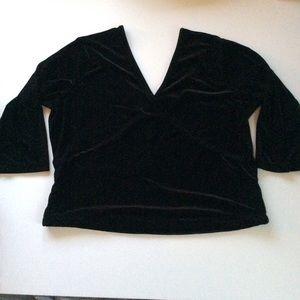 Soft Surroundings Tops - Soft Surroundings  Velvet surplice front/back top
