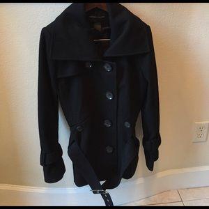 Stylish Black Wool Coat