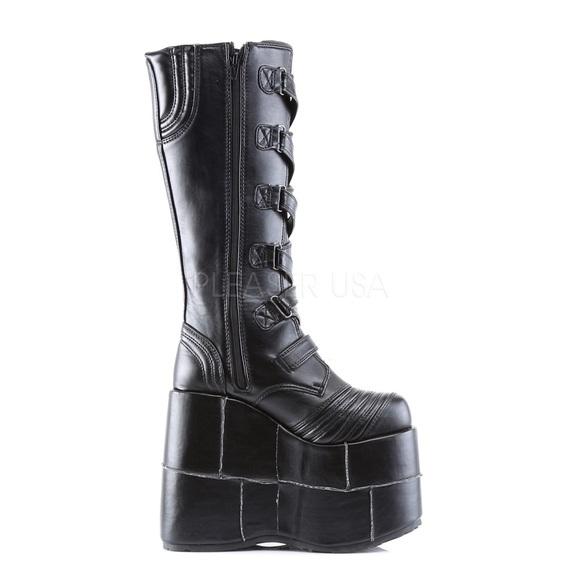 812aa6e71d9 Demonia Shoes - Black Stack Platform GoGo Boots