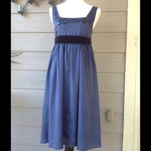 Anthropologie Dresses & Skirts - Anthropologie blue silk dress size S