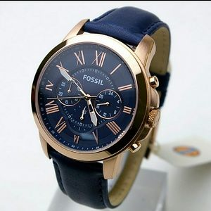 NWT Fossil Chronograph rose/blue Men's Watch