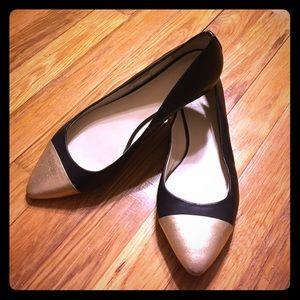 C. Wonder Shoes - C. Wonder black gold genuine leather pointy flats