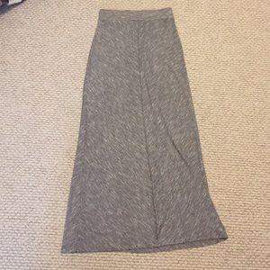 Grey j crew maxi skirt
