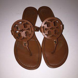 Tory Burch Tan Miller Sandals Shoes sz 9