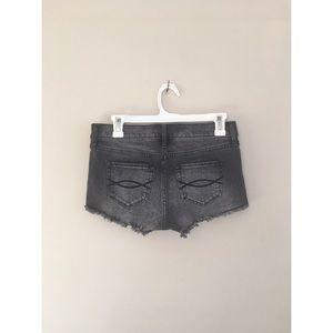 Abercrombie & Fitch Pants - Abercrombie gray cutoff stretch daisy duke shorts