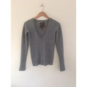 Abercrombie & Fitch Sweaters - Abercrombie Ezra cashmere gray sweater top XS