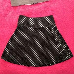 H&M Mint Polka Dot Black Skirt