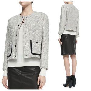 rag & bone Jackets & Blazers - Rag & Bone Cannon Tweed Snap-Front Jacket