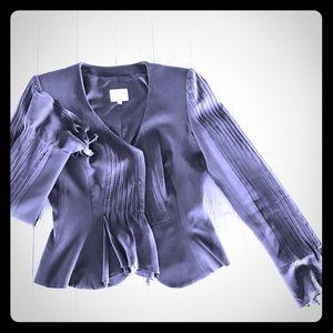 Armani Collezioni Black Silk Blazer