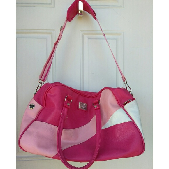lululemon athletica Handbags - Rare Lululemon Hot Pink Bag Gym Yoga Duffel b20594ab4d
