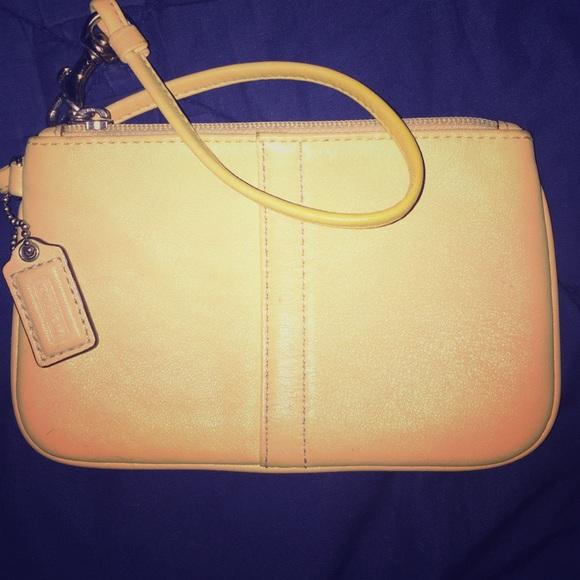 Coach Handbags - Adorable Bright Yellow Coach Wristlet 🌻 249a738c29f19