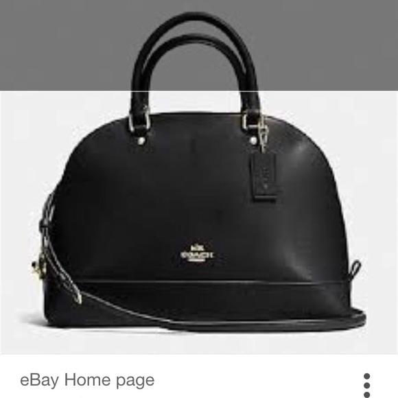 6131abcbd8c9 Genuine leather Sierra satchel coach handbag