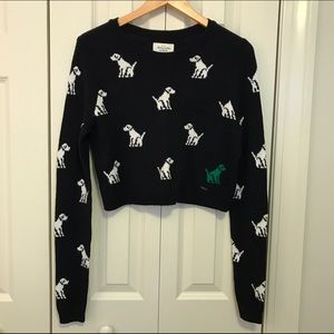 Abercrombie & Fitch Sweaters - Abercrombie & Fitch Crop Dog Sweater