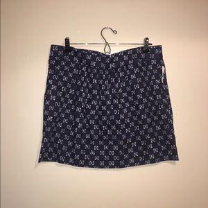 NWT Gap Indigo Pattern Skirt