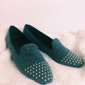 J. Crew Shoes - NIB J. Crew Studded Tweed Loafers