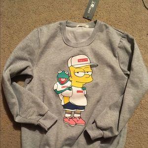 2cf1c63a4b69 Supreme Sweaters - Supreme Bart Simpson Kermit Sweatshirt