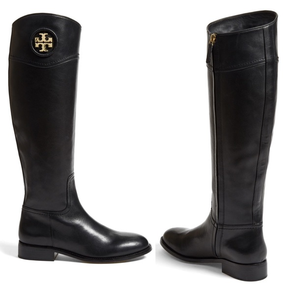 7cbedc4351e0 Tory Burch Shoes | Ashlynn Black Leather Riding Boot 8 | Poshmark