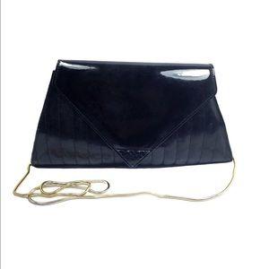 Vintage Saks 5th Ave Fifth Avenue Black Gold Bag