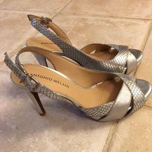 ANTONIO MELANI Shoes - Silver sling back heels