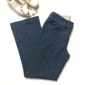Rebecca Taylor Pants - REBECCA TAYLOR Blue Tweed Wool Bootcut Pants