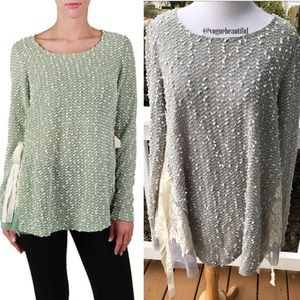 a'reve Sweaters - A'Reve Long Sleeve Knit Top With Little Bow Ties