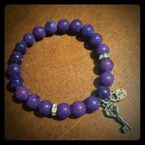 Lane Bryant Jewelry - Purple stone bracelet - fits 7 3/4 wrist