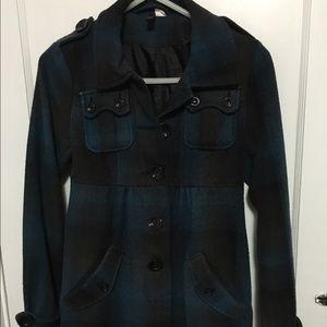 H&M Plaid Jacket Outerwear Size 2