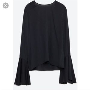 Zara Tops - NEW Zara black chiffon open back top
