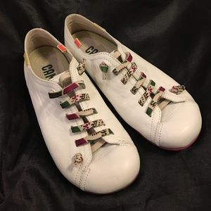 Camper Shoes - White Leather Camper Peu Shoes Size 37 / 7