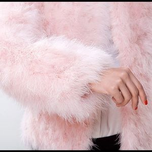 Nordstrom Jackets & Blazers - Nordstrom Pink Feather Long Sleeve Jacket