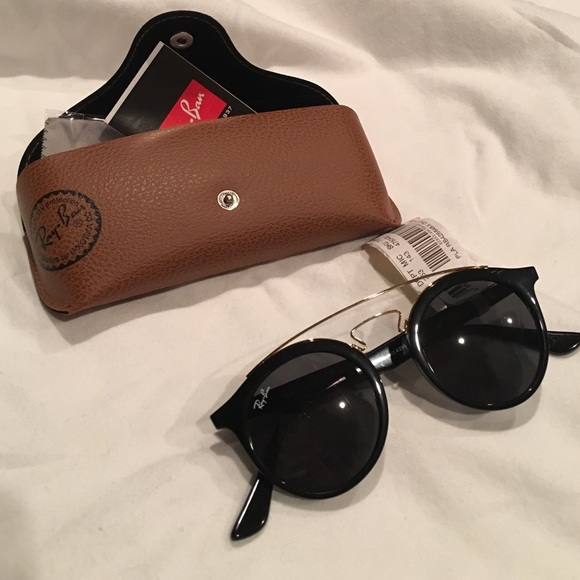 0e771c1bd19 Ray-Ban Gatsby Black Round Sunglasses