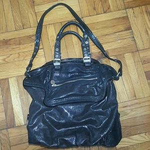 Stella McCartney Handbags - Stella McCartney Black Metallic Appaloosa Tote