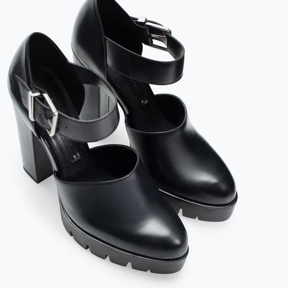 d5542df51d8 Zara high heel track sole shoes. M 588ff18378b31ccfce0d7504
