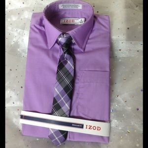 Izod Other - 🚀 BOYS 4 NWT Dress Shirt and Matching Plaid Tie