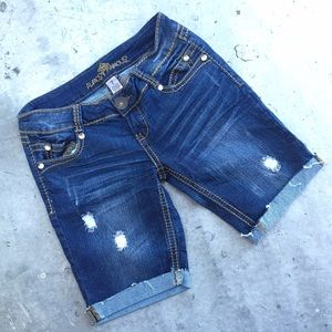 Almost Famous Shorts - Almost Famous Ripped Denim Shorts