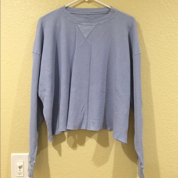 4fc783672080 Brandy Melville Sweaters - Brandy Melville periwinkle blue Laila thermal top