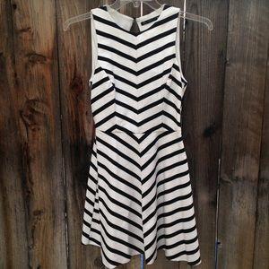 Trafaluc Zara striped cut out dress size small