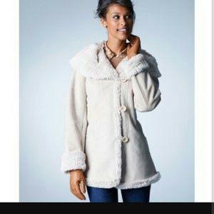 Jones New York Jackets & Blazers - Faux Fur Lined Pea Coat