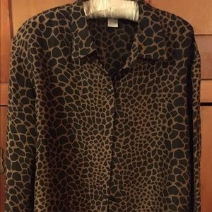 Anna and Frank  Tops - Leopard Print Blouse 100% silk