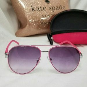 STEVE MADDEN Pink Aviator Sunglasses