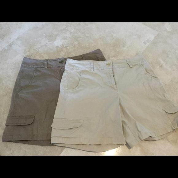Talbots cargo shorts - bundle of 2. Size 10.