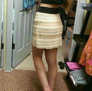 Free People XS Lace Mini Skirt.