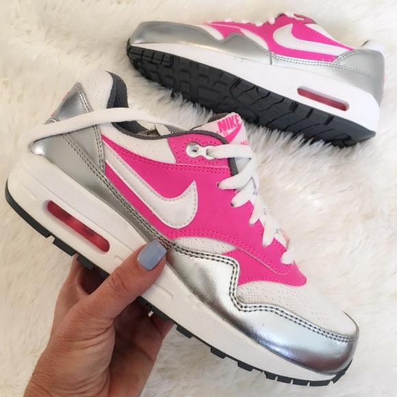 Nike Air Max 1 Women Mesh White Pink