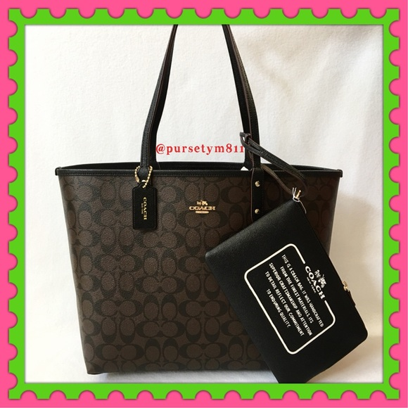 b753ae64ce Authentic Coach Reversible Signature Tote