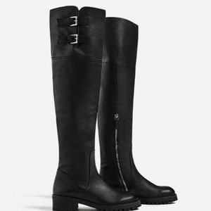 Zara Shoes - ❤30% OFF BUNDLES Zara Over The Knees Flat Leather