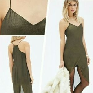 Shimmery 70s Glam Cami Sexy Dress NWT