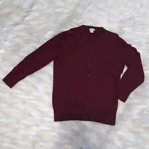 J. Crew Factory Sweaters - J .Crew Claire cardigan - oxblood